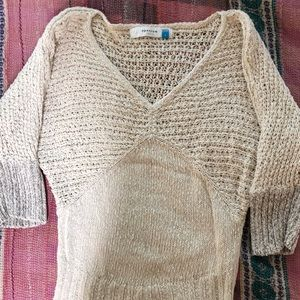 Sparrow 3/4 length cotton linen sweater
